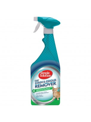 Simple Solution Stain & Odour Remover - Спрей за котки за премахване на упорити петна и неприятна миризми - 750 мл.