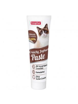 Beaphar Crunchy Yoghurt Paste - хрупкавата паста за котки за грижа за зъбите и костите - 100 гр.
