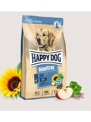 HAPPY DOG  Natur Croq XXL - Натурална линия суха храна за израстнали кучета от едрите породи с пилешко, говеждо и риба, черен дроб и зелен овес -  15 кг.