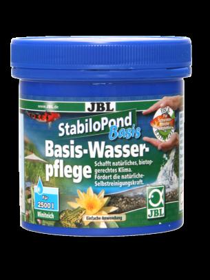 JBL StabiloPond Basis - основна грижа за всеки тип градинско езеро - създава естествена среда, стабилизира КН, GH и pH, 100 гр за 1000 л - 250 gr.