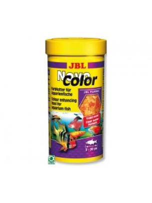 JBL NovoColor  - Храна на люспи за подсилване на цветовете на аквариумнитете рибки   - 100мл.