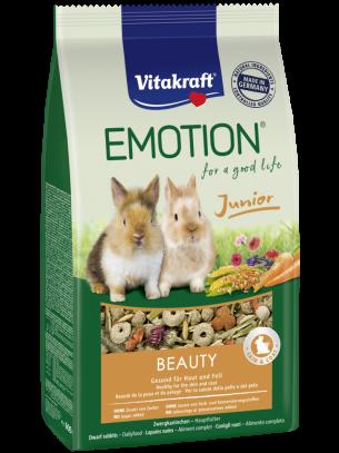 Vitakraft Emotion Beauty Selection Junior - Пълноценна ежедневна храна за декоративни зайци под 6 месеца - 0.600 кг.