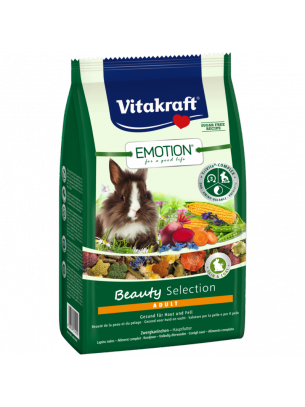 Vitakraft Emotion Beauty Selection Adult - Пълноценна ежедневна храна за декоративни зайци над 6 месеца - 0.600 кг.