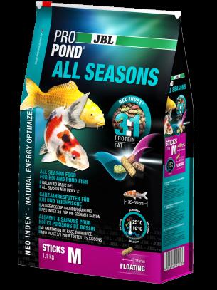 JBL ProPond All Seasons M - високо качествена и отлично балансирана, всесезонна храна за кои и езерни риби над 15 см. - 32 л. - 5.8 кг. - нов код 4125800