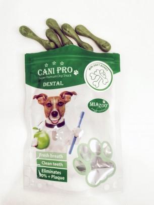 Cani Pro Dental Mini Soft Bones - Дентални мини кокалчета за кучета с аромат на зелен чай - 84 гр.