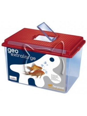 Ferplast Geo Extra Large - кконтейнер за пренасяне на костенурки и др. - 11 л. - 35,6 х 23,4 х 22,8 см.