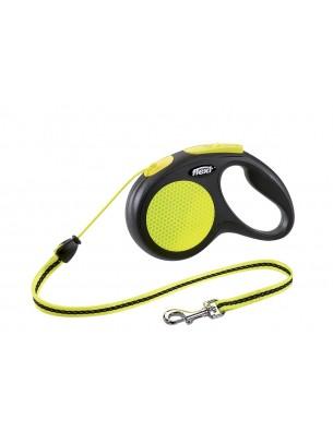 Flexi - Classic Neon S Mini- Автоматичен, светлоотразителен повод с въже - 5 м., за кучета до 20 кг.