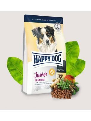 Happy Dog Junior Grainfree - пълноценна храна без зърнени съставки за подрастващи кучета над 7 месечна възраст - 10 кг.