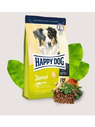 Happy Dog Junior Lamb & Rice - пълноценна храна за подрастващи кучета над 7 месечна възраст - 4 кг.