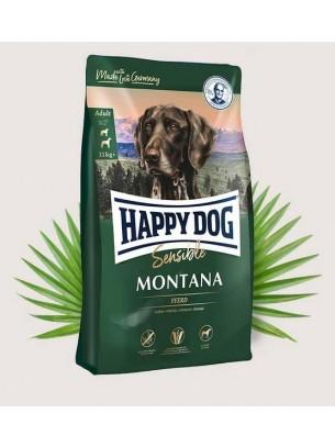 Happy Dog Montana - Суха храна за кучета от всички породи над 1 година без зърно с конско месо - 1 кг.