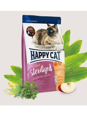 HAPPY CAT - Sterilised Atlantic Salmon - Храна за кастрирани котки над 1 година с атлантическа сьомга - 1.4 кг.