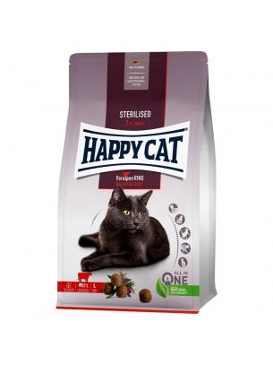HAPPY CAT - Sterilised Bavarian Beef - Храна за кастрирани котки над 1 година с говеждо - 0.300 кг.
