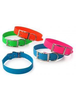 Миазоо - Нашийник лента с PVC/TPU покритие - 2.5/50 см. - зелен, оранжев, син или розов