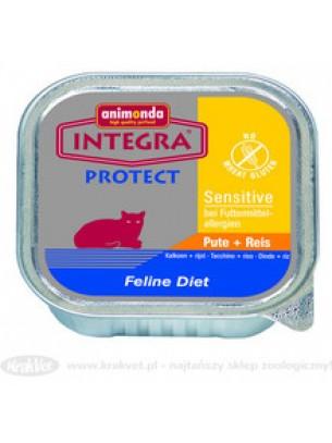 INTEGRA Sensetive - високо качествен пастет за котки с чувствителен стомах с пуйка и ориз - 100 гр.