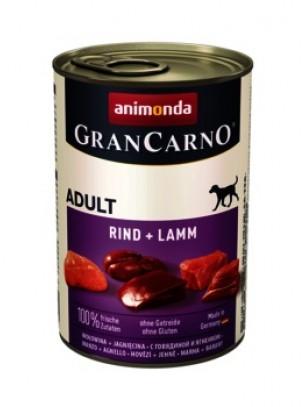 Gran Carno Original Adult Rind + Lamb - Високо качествени консерва за кучета над 1 год. От Animonda Германия - Говеждо и агнешко месо - 0.400 кг.