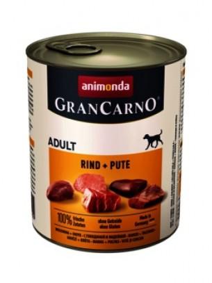 Gran Carno Original Adult Rind + Pute - Високо качествени консерва за кучета над 1 год. От Animonda Германия с говеждо и пуешко - 0.800 кг.