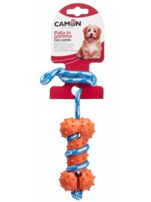 Camon - Играчка за куче - гумен кокал с въже - 35 см.