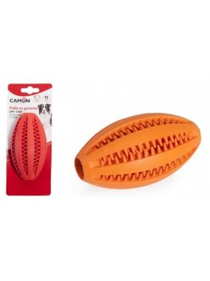 """Camon - Играчка за куче - дентална гумена топка """"ръгби"""" - 11 см."""