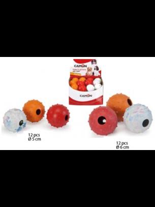 Camon - Играчка за куче - Гумена топка звънче - 6 см.