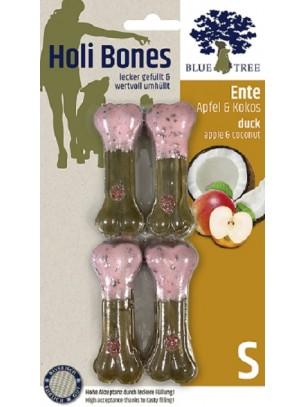 Blue Tree - Holi Bones - Неустоим кожен кокал с патешко месо, ябълки и кокос - 4 бр. Размер S