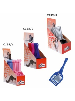 Camon - Лопатка за котешка тоалетна - 28х14 см. (розова, синя)