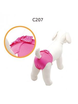 "CAMON - Бански за куче - размер ""4"" - розови"