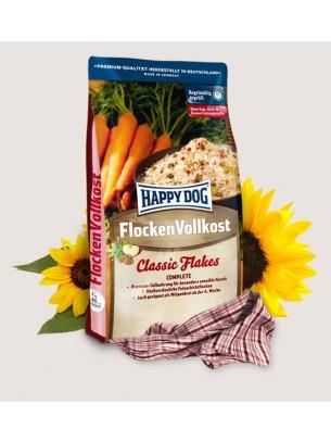 Happy Dog Flocken Vollkost - лесно смилаеми люспи от зърнени култури за особено чувствителни кучета над 1 година - 3 кг.