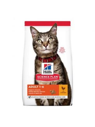 Hill's - Science Plan Adult Chicken - Храна за оптимална грижа за котки над 1 година с пилешко месо - 1.5 кг.