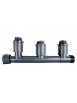"Rain Bird  Колектор за клапани - 1"" М х (3 холендрови изхода);  1"" М х (1 стандартен изход); 1"" Ж х (1 холендров вход)"