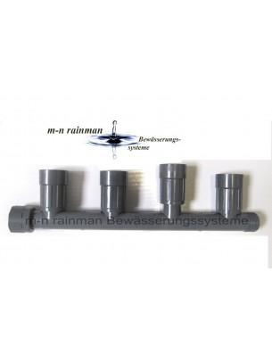 "Rain Bird  Колектор за клапани - 1"" М х (4 холендрови изхода);  1"" М х (1 стандартен изход); 1"" Ж х (1 холендров вход)"