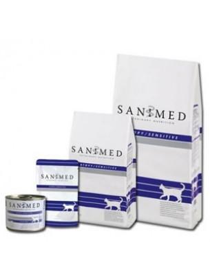 Sanimed - CAT ATOPY SENSITIVE - лечебна храна за котки над 1 година при алергични кожни проблеми - 4.5 кг.