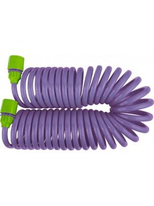 """PALISAD - Комплект за поливане: маркуч спирал - 7,5 м. х 10 мм. + съединителен адаптер за кран 1/2"""""""