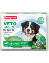 Beaphar Veto Pure Bio Spot On - репелентни Bio капки за кучета от едрите породи - 3 броя