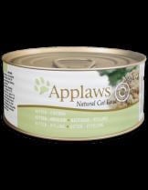 Applaws Kitten Chicken in Jelly - високо качествен консерва за подрастващи котки от 1 до 12 месеца с месни хапки от пиле в желе - 70 гр.