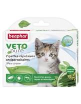 Beaphar Veto Pure Bio Spot On Kitten - Противопаразитни репелентни капки за малки котета на билкова основа - 3 бр.