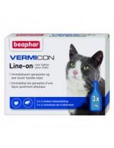 Beaphar - Vermicon Line-on - спот он капки с Димитикон за котка без инсектицид