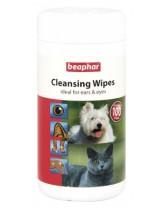 Beaphar Cleaning Wipes почистващи кърпички за очи и уши на домашни любимци - 100 бр.
