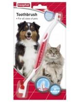 Beaphar - Четка за зъби за кучета и котки