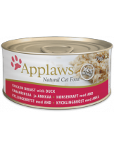 Applaws Chicken Breast with Duck in Broth - високо качествен консерва за котки над 12 месеца с пилешкo и пуешко месо в бульон - 70 гр.