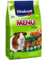 Vitakraft Premium Menu Vital - премиум храна за морски свинчета и други гризачи с плодове, витамини и протеини - 0.400 кг.