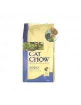 Cat Chow Adult Salmon - за възрастни котки над 1 година със сьомга и риба тон  - 15 кг.