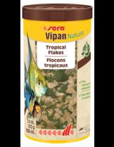 Sera Vipan Nature - основна храна за декоративни рибки на едри люспи - без оцветители и консерванти - 1000 мл.