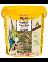 Sera Vipan Nature - основна храна за декоративни рибки на едри люспи - без оцветители и консерванти - 4 кг.