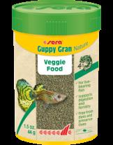 Sera Guppy Gran Nature - специално разработена вегитарианска храна за гупи, на леки гранули - 10 гр.