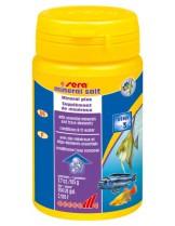 Sera Mineral salt - препарат за безопасно обогатяване с минерали на водата в аквариума - 110 гр.