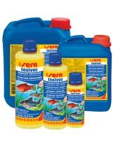 Sera Toxivec - Препарат неутрализиращ  високите нива на амоний, амоняк, нитрити, хлор, тежки метали и други във водата - 250 мл.