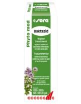 Sera Phyto Med Baktazid - Ефективен медикамент срещу външни бактериални инфекции на кожата и хрилете на аквариумните, езерните и морските риби - 30 мл.