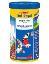 Sera KOI ROYAL Medium -  храна за средни кои и други езерни рибки - 1000 мл     .