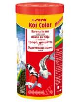 Sera KOI COLOR Medium -  храна за подсилване на цветовете при средни и големи кои и други езерни риби - 1000 мл     .