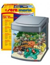 Sera marin PRECISION Biotop LED Cube 130 - Напълно оборудван морски аквариум - 51x62,6x58 cм. - 130 л.